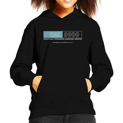 2001 A Space Odyssey Hal Computer Logo Kid's Hooded Sweatshirt by Prosthetic Mind - Cloud City 7