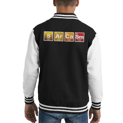 Sarcasm Periodic Table Elements Kid's Varsity Jacket by Acepress - Cloud City 7