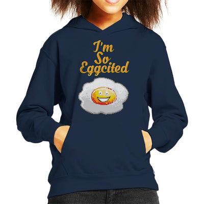 Im So Eggcited Kid's Hooded Sweatshirt by Cletus Courgetti - Cloud City 7