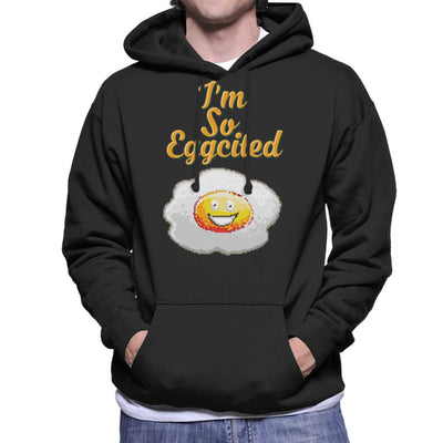 Im So Eggcited Men's Hooded Sweatshirt by Cletus Courgetti - Cloud City 7