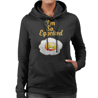 Im So Eggcited Women's Hooded Sweatshirt by Cletus Courgetti - Cloud City 7