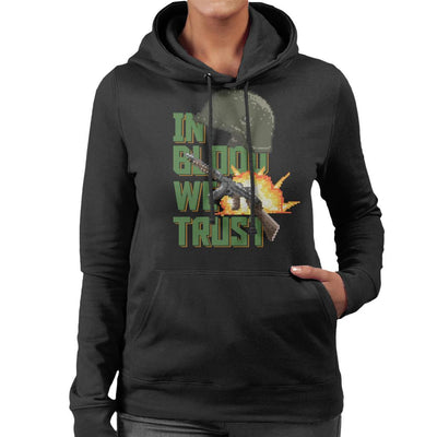 In Blood We Trust Women's Hooded Sweatshirt by Cletus Courgetti - Cloud City 7