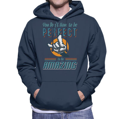 You Dont Have To Be Perfect To Be Amazing Men's Hooded Sweatshirt by Cletus Courgetti - Cloud City 7