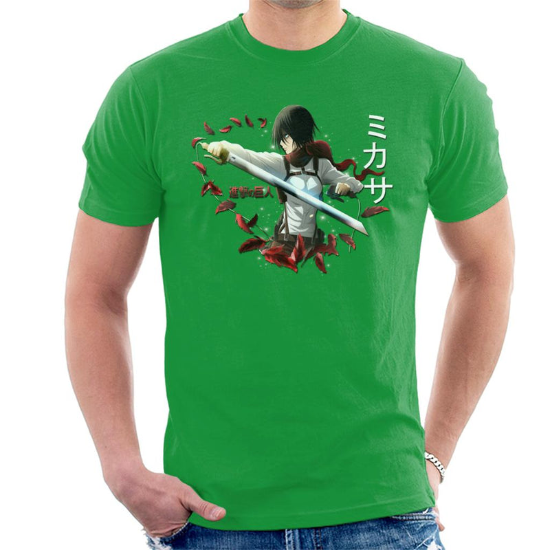 Attack On Titan Mikasa ODM Gear Men's T-Shirt by Vlajnic Designs - Cloud City 7