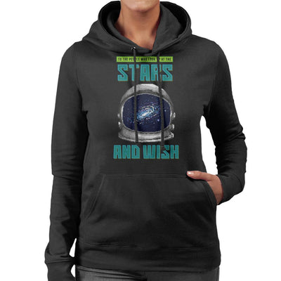 To People Who Look Up At The Stars Astonauts Helmet Pixel Art Women's Hooded Sweatshirt by Cletus Courgetti - Cloud City 7