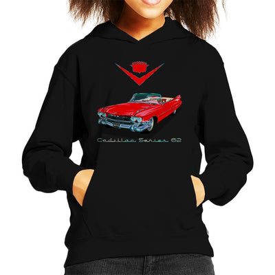 1959 Cadillac Series 62 Kid's Hooded Sweatshirt by Karmadesigner - Cloud City 7