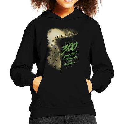 300 Lemmings Prepared For Glory Kid's Hooded Sweatshirt by Olipop - Cloud City 7
