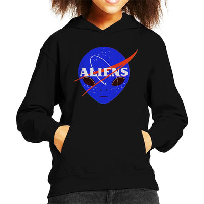 Aliens Space Program Nasa Kid's Hooded Sweatshirt by Sebastian Govino - Cloud City 7