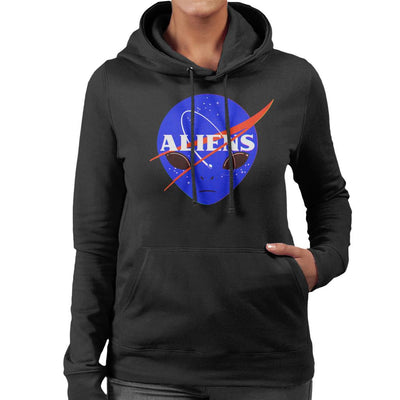 Aliens Space Program Nasa Women's Hooded Sweatshirt by Sebastian Govino - Cloud City 7