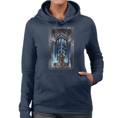 Upgrade Your Metropolis Cyberman Doctor Who Women's Hooded Sweatshirt by Sebastian Govino - Cloud City 7