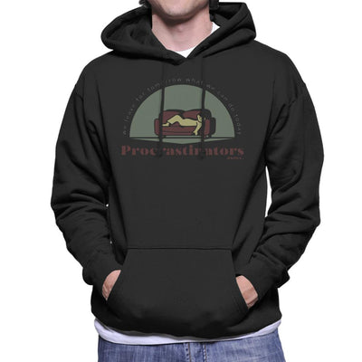 Procrastinators Association Men's Hooded Sweatshirt by Sebastian Govino - Cloud City 7