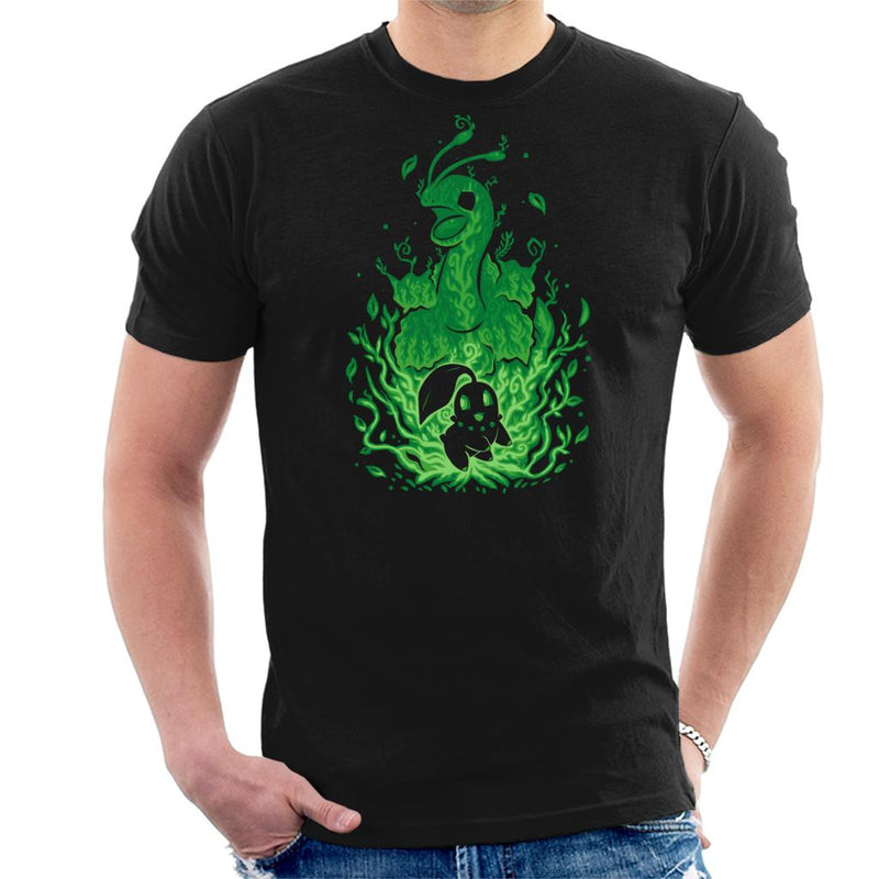 Pokemon Chikorita Meganium Grass Starter Men's T-Shirt by Techranova - Cloud City 7