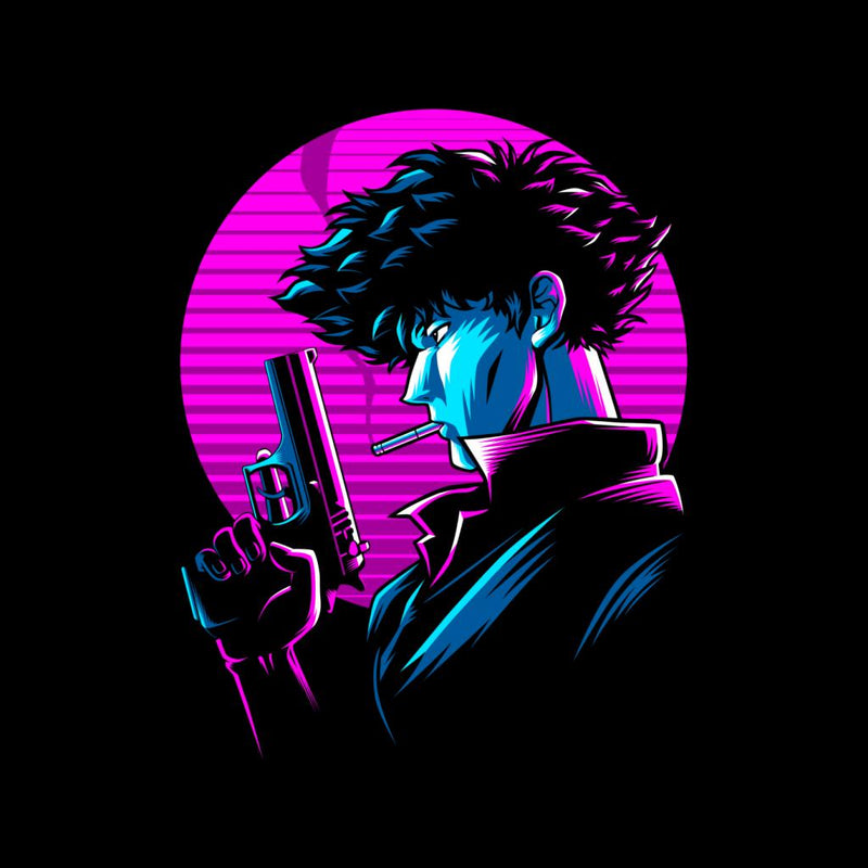 Cowboy Bebop Spike Spiegel Retro by AlbertoCubatas - Cloud City 7