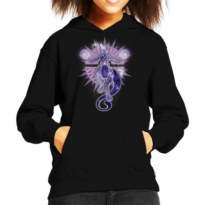 Pokemon Starry Sky Of Wrath Mewtwo Kid's Hooded Sweatshirt by ChocolateRaisinFury - Cloud City 7