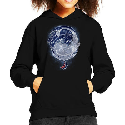 Toothless Starry Sky Of Dragons Kid's Hooded Sweatshirt by ChocolateRaisinFury - Cloud City 7