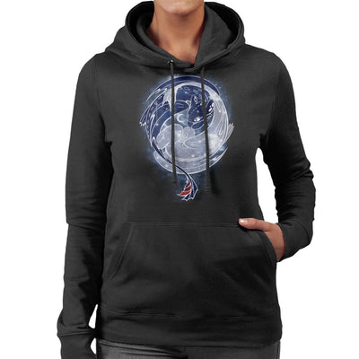 Toothless Starry Sky Of Dragons Women's Hooded Sweatshirt by ChocolateRaisinFury - Cloud City 7