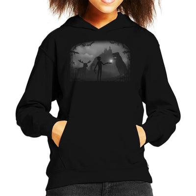 Limbo Alone Landscape Kid's Hooded Sweatshirt by Crumblin Cookie - Cloud City 7