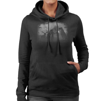 Limbo Alone Landscape Women's Hooded Sweatshirt by Crumblin Cookie - Cloud City 7