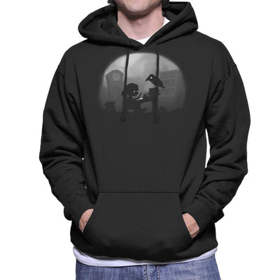 Nevermore Raven Men's Hooded Sweatshirt by Crumblin Cookie - Cloud City 7