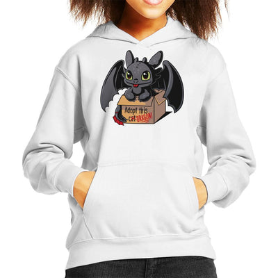 Toothless Adopt This Dragon Kid's Hooded Sweatshirt by Typhoonic - Cloud City 7