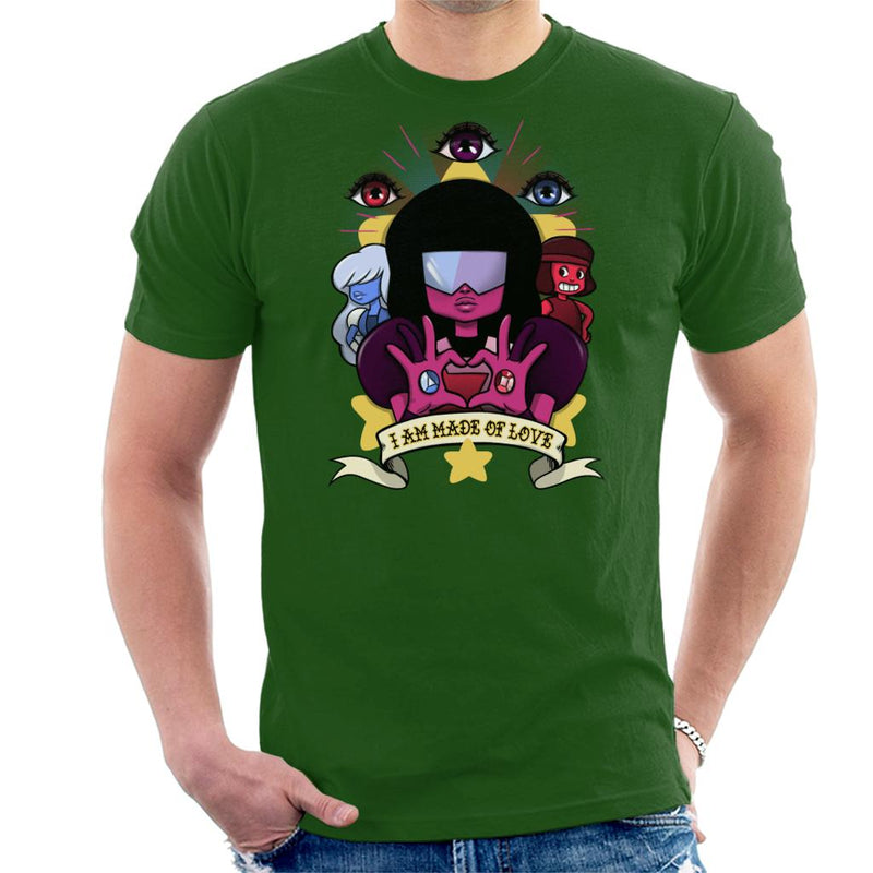 Steven Universe Made Of Love Men's T-Shirt by Ursula Lopez - Cloud City 7