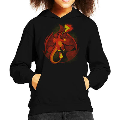 Pokemon Fire Charizard Kid's Hooded Sweatshirt by Jozvoz - Cloud City 7