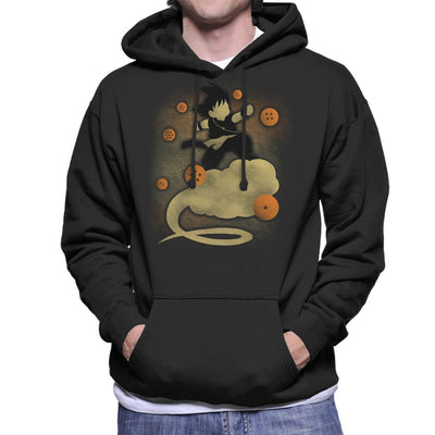 Dragon Ball Z Goku Cloud Silhouette Men's Hooded Sweatshirt by Jozvoz - Cloud City 7