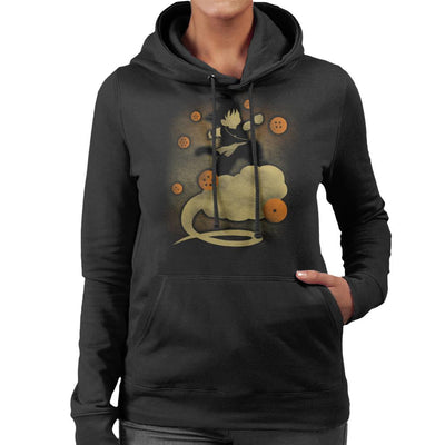 Dragon Ball Z Goku Cloud Silhouette Women's Hooded Sweatshirt by Jozvoz - Cloud City 7