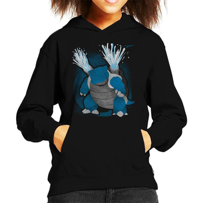 Pokemon Water Blastoise Kid's Hooded Sweatshirt by Jozvoz - Cloud City 7
