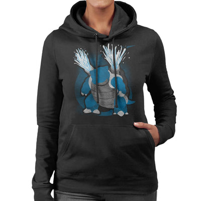 Pokemon Water Blastoise Women's Hooded Sweatshirt by Jozvoz - Cloud City 7