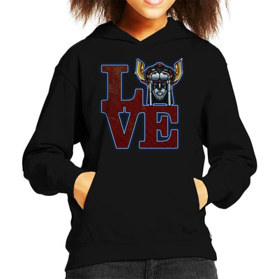 Love Voltron Legendary Defender Kid's Hooded Sweatshirt by Mannart - Cloud City 7