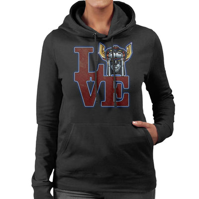 Love Voltron Legendary Defender Women's Hooded Sweatshirt by Mannart - Cloud City 7