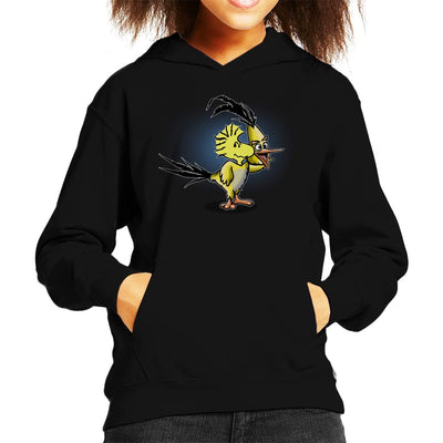 The Wrath Of Woodstock Peanuts Angry Birds Kid's Hooded Sweatshirt by Mannart - Cloud City 7
