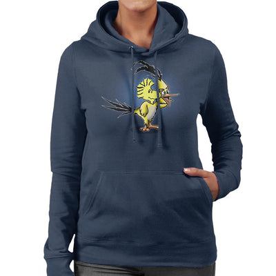 The Wrath Of Woodstock Peanuts Angry Birds Women's Hooded Sweatshirt by Mannart - Cloud City 7