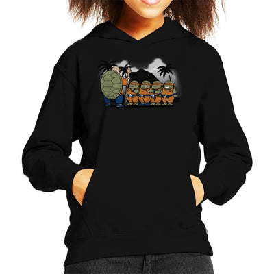 Ninja Kame Kids TMNT Dragon Ball Z Kid's Hooded Sweatshirt by Pigboom - Cloud City 7