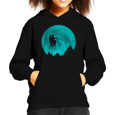 Will And Eleven ET Bike Scene Stranger Things Kid's Hooded Sweatshirt by Pigboom - Cloud City 7