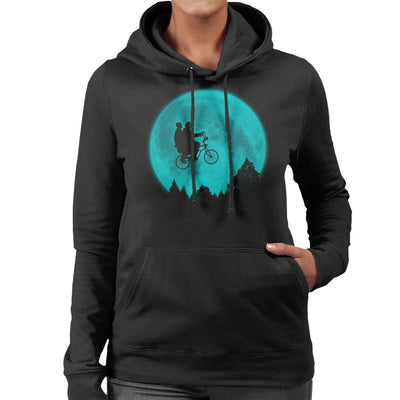 Will And Eleven ET Bike Scene Stranger Things Women's Hooded Sweatshirt by Pigboom - Cloud City 7