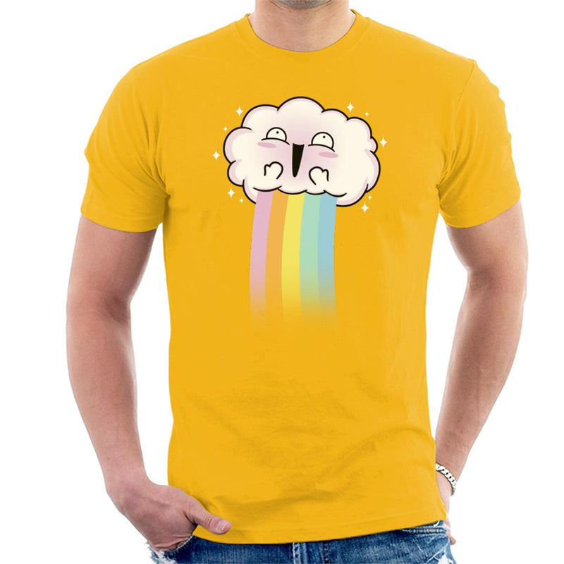 Kawaii Rainbow Cloud Men's T-Shirt by Raffiti - Cloud City 7