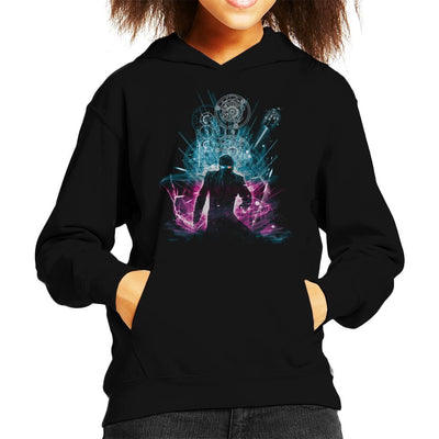 10th Doctor Who Time Explosion Kid's Hooded Sweatshirt by Kharmazero - Cloud City 7