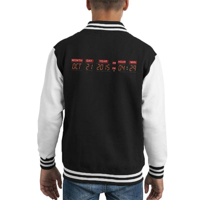 DeLorean Time Machine Back To The Future Kid's Varsity Jacket by Acepress - Cloud City 7