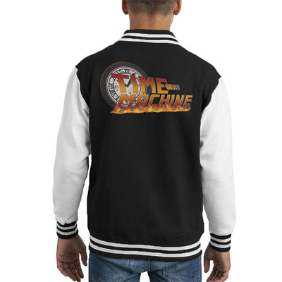 Time Machine Clock Face Back To The Future Kid's Varsity Jacket