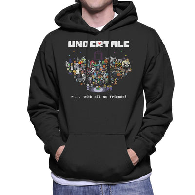 Undertale With All My Friends Men's Hooded Sweatshirt by nicksoulart - Cloud City 7