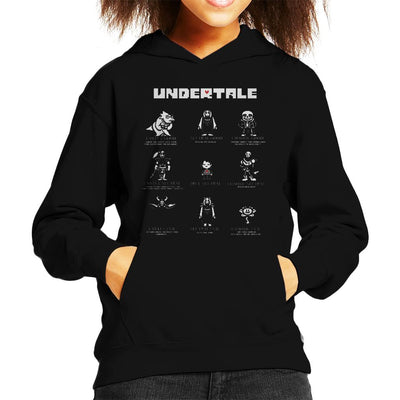 Undertale Good Neutral And Evil Characters Kid's Hooded Sweatshirt by nicksoulart - Cloud City 7