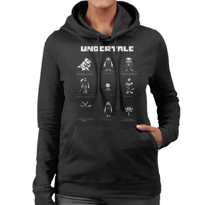 Undertale Good Neutral And Evil Characters Women's Hooded Sweatshirt by nicksoulart - Cloud City 7