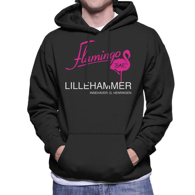 Flamingo Bar Logo Lilyhammer Men's Hooded Sweatshirt by Stroodle Doodle - Cloud City 7