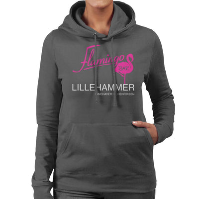 Flamingo Bar Logo Lilyhammer Women's Hooded Sweatshirt by Stroodle Doodle - Cloud City 7