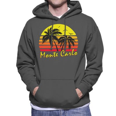 Monte Carlo Vintage Sun Men's Hooded Sweatshirt by BoyWithHat - Cloud City 7