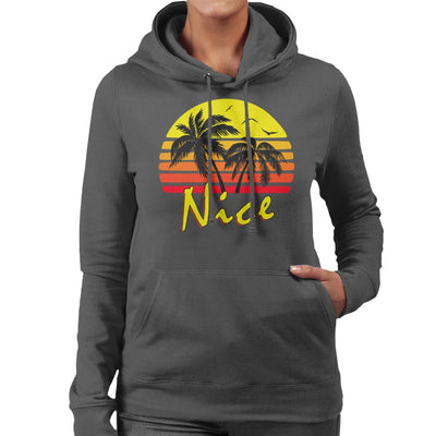Nice Vintage Sun Women's Hooded Sweatshirt by BoyWithHat - Cloud City 7