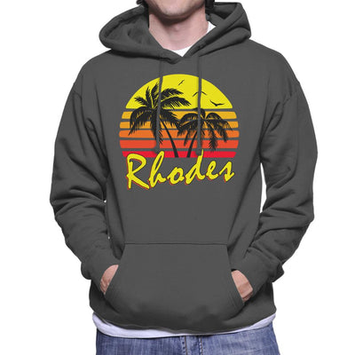 Rhodes Vintage Sun Men's Hooded Sweatshirt by BoyWithHat - Cloud City 7