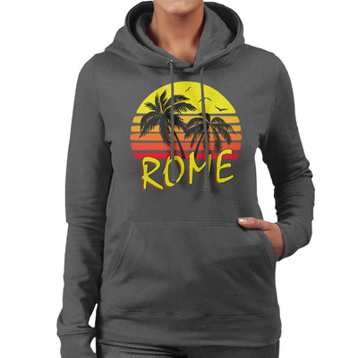 Rome Vintage Sun Women's Hooded Sweatshirt by BoyWithHat - Cloud City 7